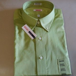 IZOD - Moss Green Long Sleeve Dress Shirt